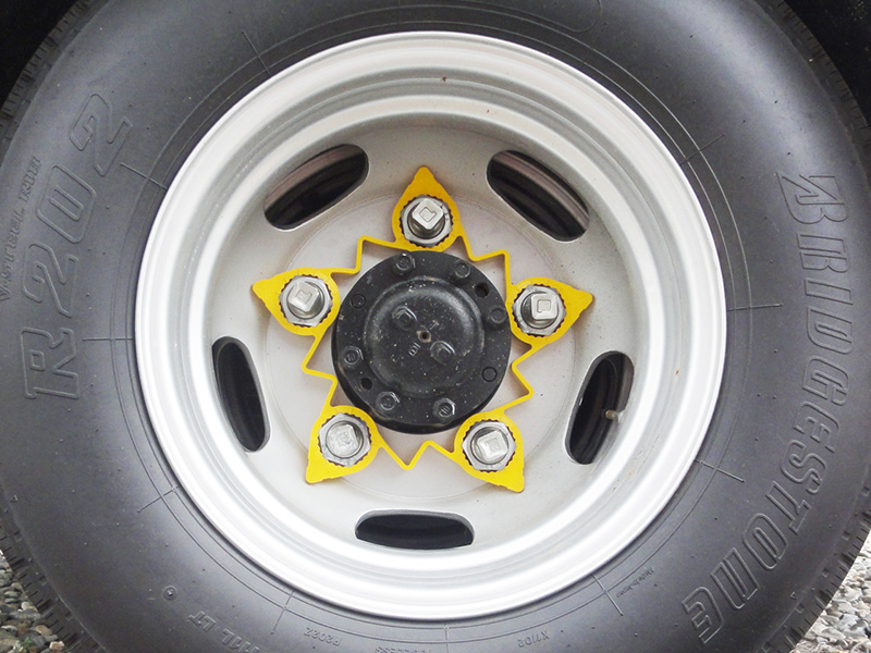 loose wheel nut indicator